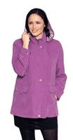 Ladies Lightweight Pink Hooded Rain Jacket db684
